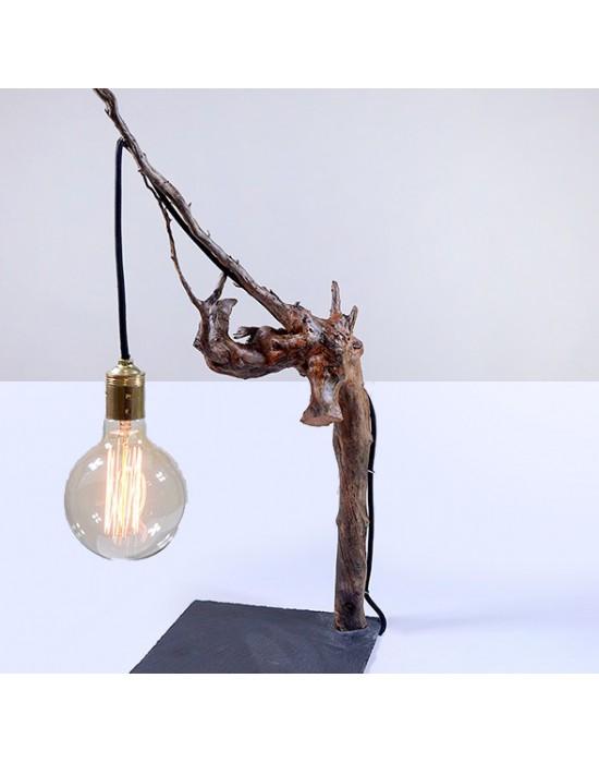 Lámpara con tronco de cepa