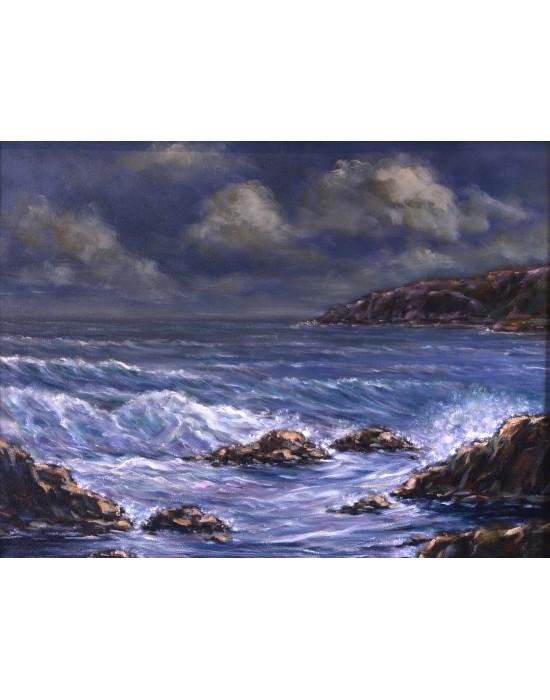 Quadre Mar Moguda - Pintura Marina Original