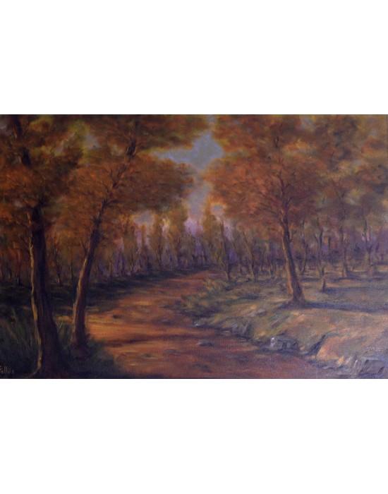 Cuadro Otoño - Pintura Paisaje Original