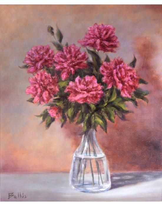 Cuadro Flores en Jarrón - Pintura Original