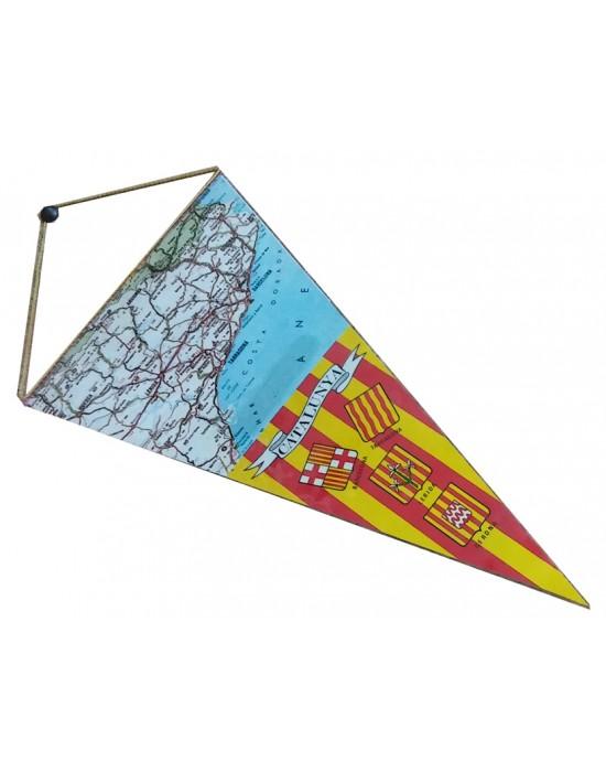Banderín con Mapa de Catalunya