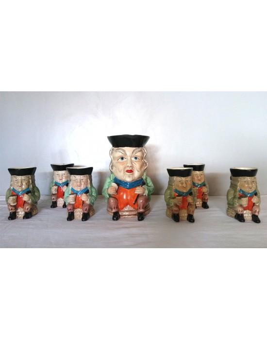 Conjunto de 7 jarras de cerveza 1950