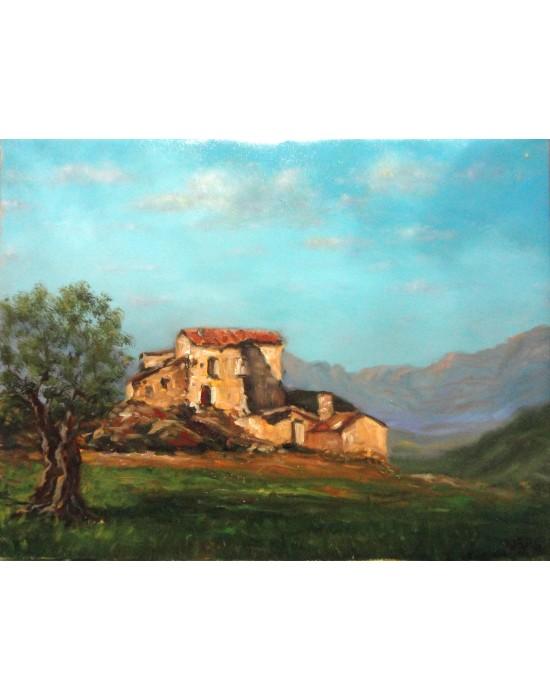 Cuadro Masía en Montaña - Pintura Original