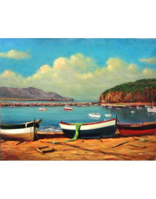 Quadre Barques al Port de Llançà - Pintura Original