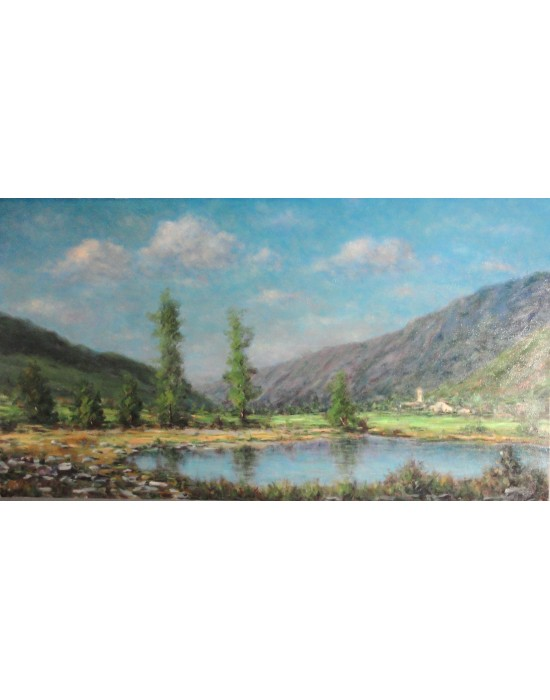 Cuadro Lago - Pintura Original