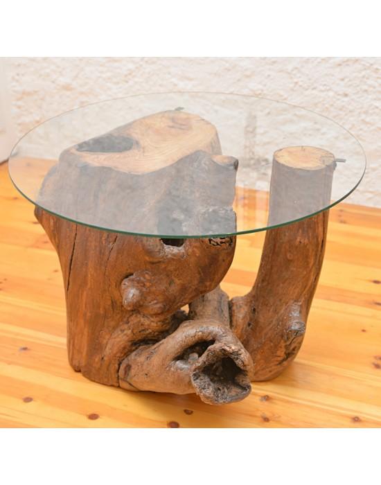 Mesa de centro con tronco