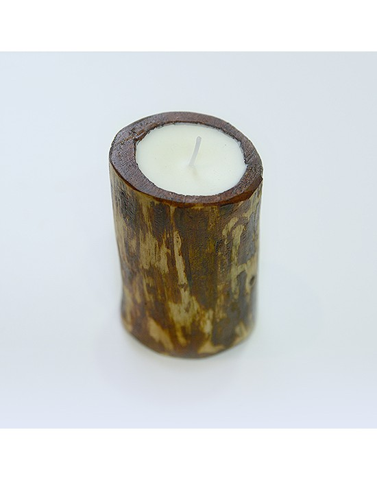 Espelma de fusta amb aroma a vainilla