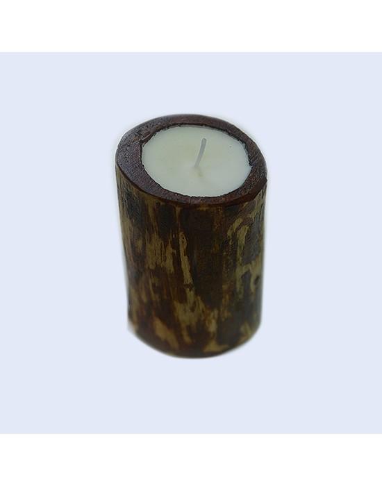 Espelma de fusta amb aroma a gerds