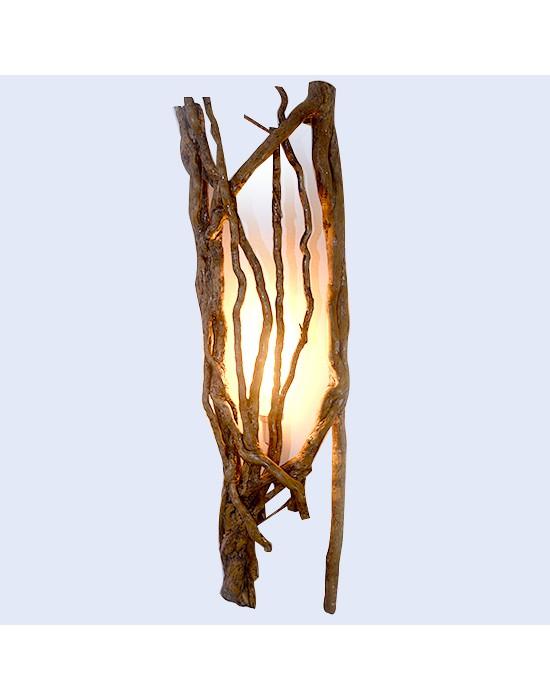 Aplique de pared con tronco hiedra