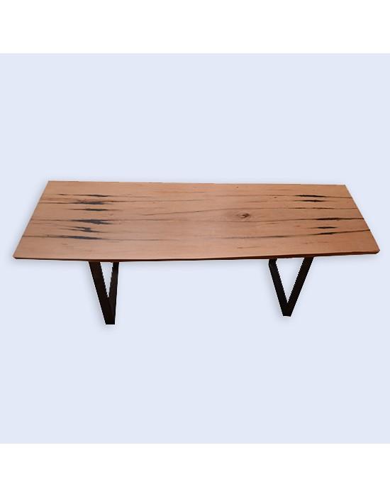 Taula de centre rústica amb fusta de faig