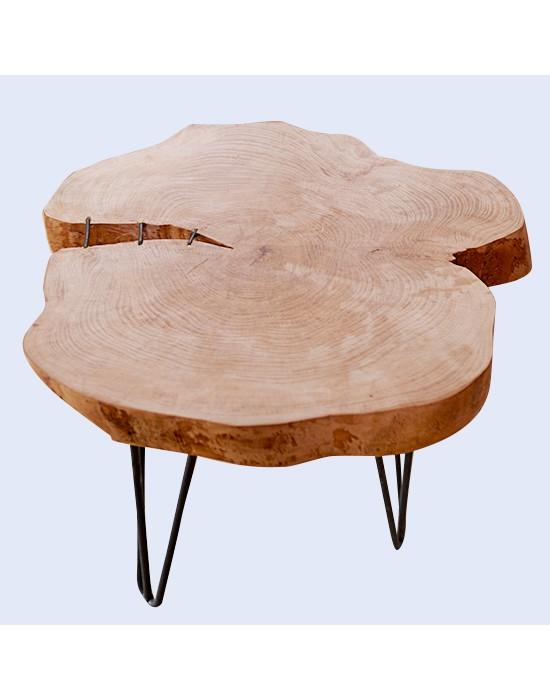 Mesa de centro rodaja de tronco