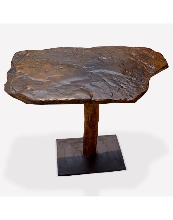 Taula auxiliar pedra i tronc