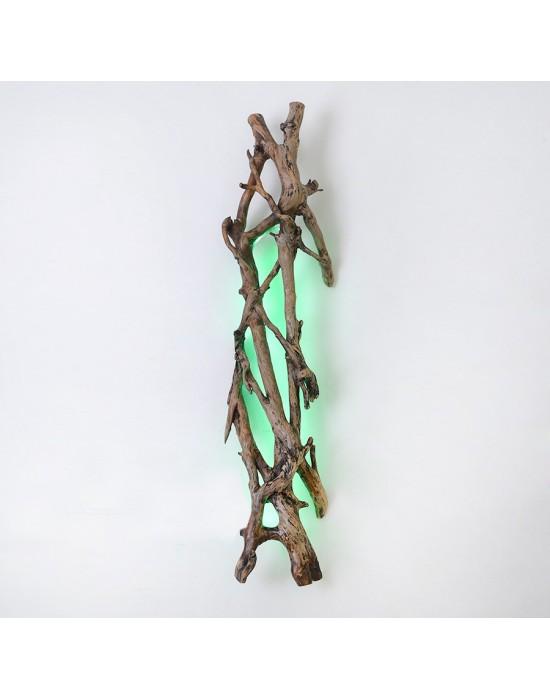 Aplique de pared con tronco de hiedra