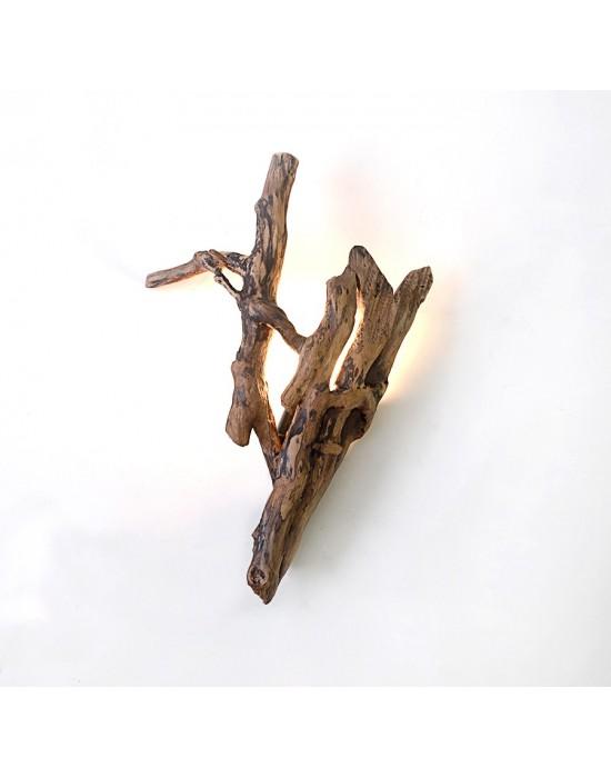 Aplic de paret amb tronc d'heura