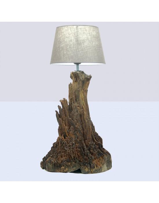 Lámpara con raíz de pino