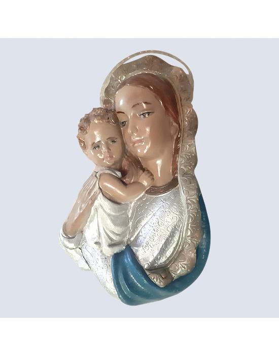 Relieve de Virgen María con el niño Jesús