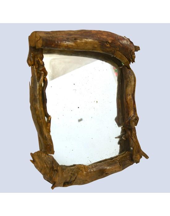 Espejo antiguo marco troncos