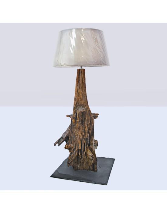Lámpara con raíz de arbol