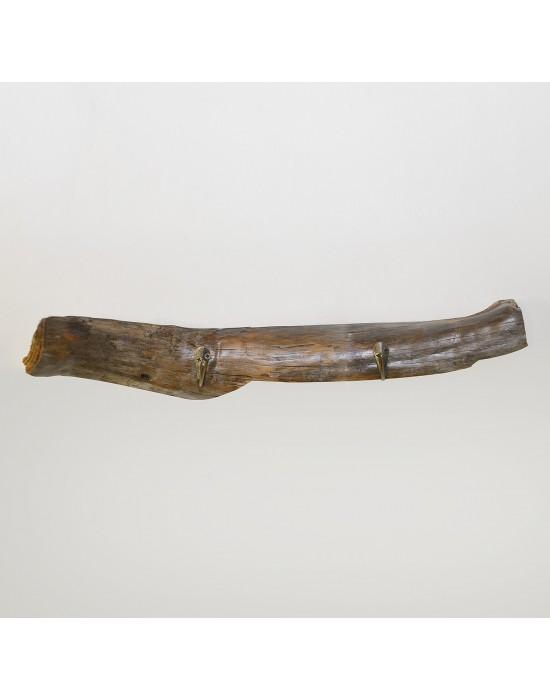 Perchero de madera 2 ganchos