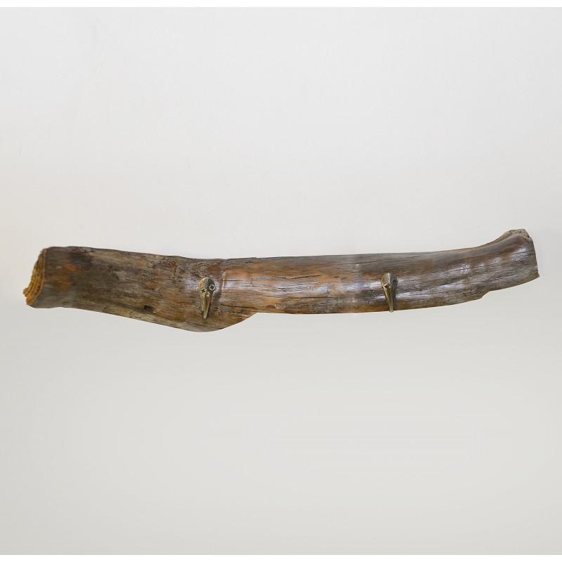 Perchero de madera 2 ganchos niquel for Ganchos para percheros