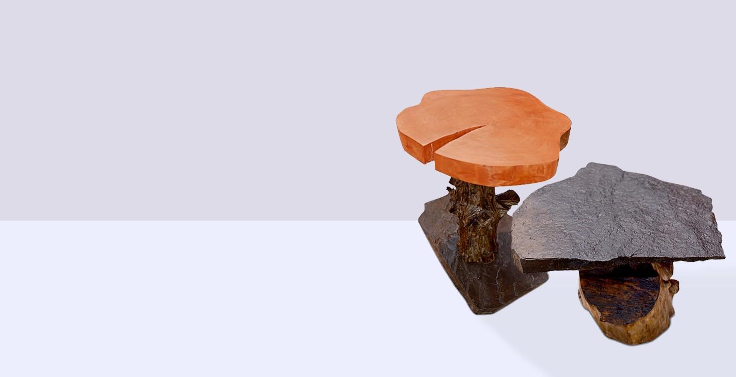 Mesas de formas naturales